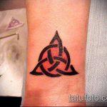 тату кельтика №329 - интересный вариант рисунка, который легко можно использовать для переработки и нанесения как тату кельтика на ногу