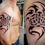 тату кельтика №735 - интересный вариант рисунка, который успешно можно использовать для преобразования и нанесения как тату кельтика браслет