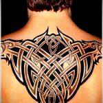 тату кельтика №151 - крутой вариант рисунка, который успешно можно использовать для переработки и нанесения как тату кельтский крест