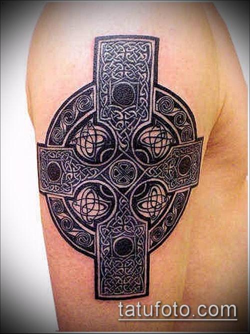 тату кельтика №112 - интересный вариант рисунка, который хорошо можно использовать для переработки и нанесения как тату кельтский крест