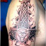 тату кельтика №876 - достойный вариант рисунка, который легко можно использовать для переделки и нанесения как тату кельтика браслеты