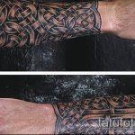 тату кельтика №679 - классный вариант рисунка, который успешно можно использовать для переделки и нанесения как тату кельтика предплечье