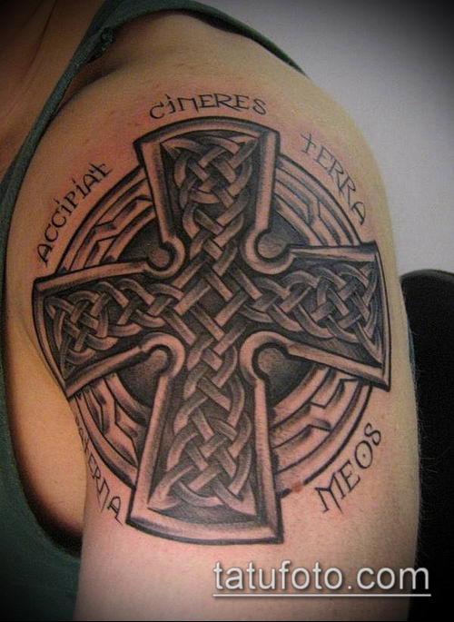 тату кельтика №257 - достойный вариант рисунка, который удачно можно использовать для переработки и нанесения как тату кельтика рукав
