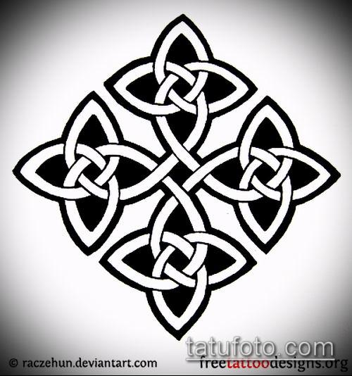 тату кельтика №403 - достойный вариант рисунка, который хорошо можно использовать для переработки и нанесения как тату кельтика на плече