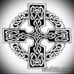 тату кельтика №92 - уникальный вариант рисунка, который успешно можно использовать для доработки и нанесения как тату кельтский крест