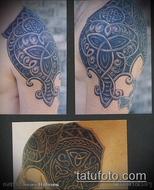 тату кельтика №461 - крутой вариант рисунка, который хорошо можно использовать для доработки и нанесения как Tattoo of the Celtic