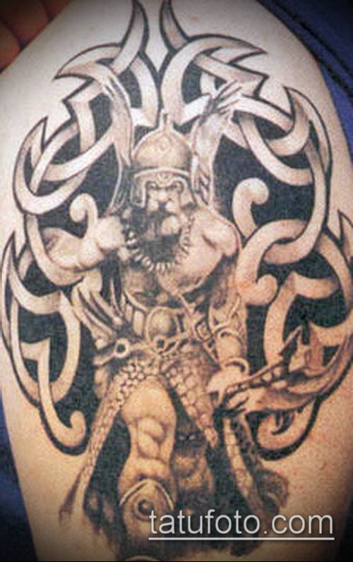 тату кельтика №532 - уникальный вариант рисунка, который хорошо можно использовать для переделки и нанесения как тату кельтика на предплечье