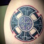 тату кельтика №246 - крутой вариант рисунка, который удачно можно использовать для преобразования и нанесения как тату кельтика браслеты