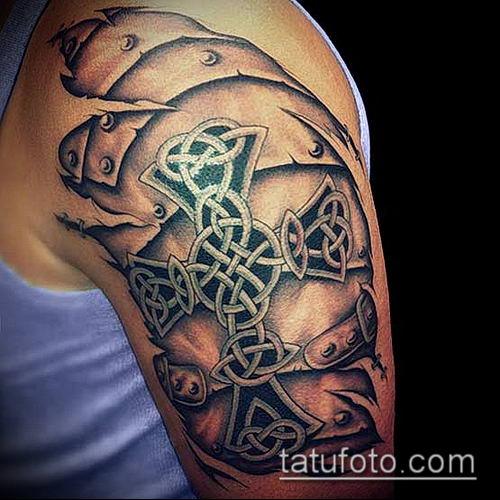 тату кельтика №790 - крутой вариант рисунка, который легко можно использовать для переделки и нанесения как тату кельтика рукав