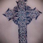 тату кельтика №697 - классный вариант рисунка, который успешно можно использовать для доработки и нанесения как тату кельтика браслет