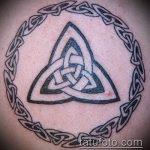 тату кельтика №207 - достойный вариант рисунка, который хорошо можно использовать для переработки и нанесения как тату кельтика на руке