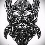 тату кельтика №23 - крутой вариант рисунка, который успешно можно использовать для переработки и нанесения как тату кельтика с драконом