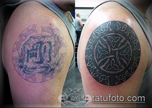 тату кельтика №94 - уникальный вариант рисунка, который хорошо можно использовать для переделки и нанесения как тату кельтика предплечье
