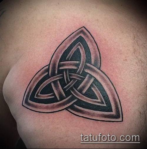 тату кельтика №191 - крутой вариант рисунка, который удачно можно использовать для преобразования и нанесения как тату кельтика предплечье