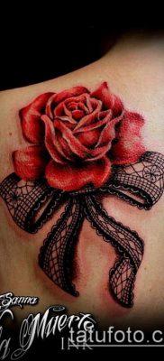тату кружева №34 – интересный вариант рисунка, который хорошо можно использовать для переделки и нанесения как тату кружево на спине