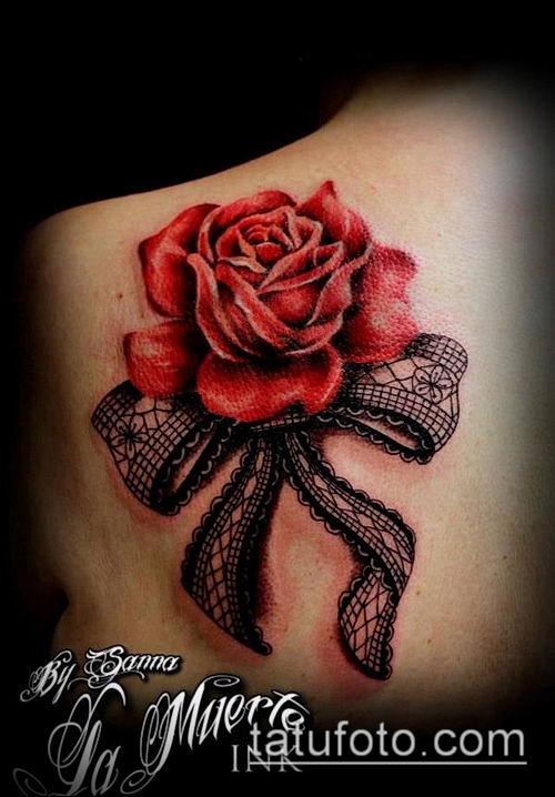 тату кружева №34 - интересный вариант рисунка, который хорошо можно использовать для переделки и нанесения как тату кружево на спине