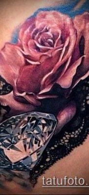 тату кружева №318 – крутой вариант рисунка, который легко можно использовать для доработки и нанесения как тату роза и кружева