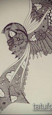тату кружева №718 – достойный вариант рисунка, который удачно можно использовать для преобразования и нанесения как тату кружева на руке
