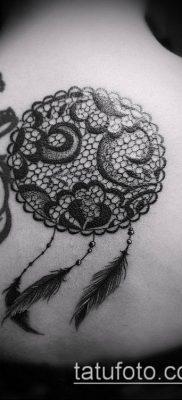 тату кружева №351 – классный вариант рисунка, который удачно можно использовать для доработки и нанесения как тату кружево