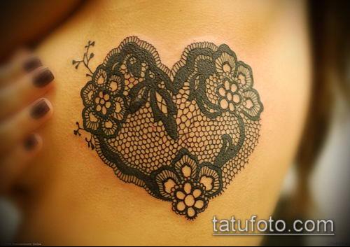 тату кружева №697 - прикольный вариант рисунка, который легко можно использовать для переработки и нанесения как тату роза с кружевами