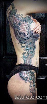 тату кружева №367 – достойный вариант рисунка, который легко можно использовать для переделки и нанесения как тату цветы с кружевами