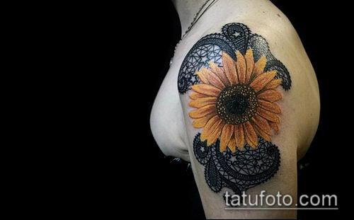 тату кружева №475 - прикольный вариант рисунка, который хорошо можно использовать для доработки и нанесения как тату кружева на бедре
