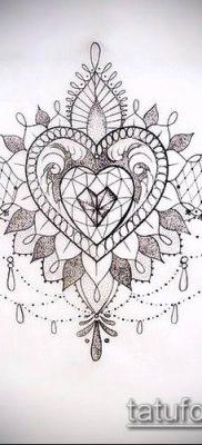 тату кружева №787 – прикольный вариант рисунка, который хорошо можно использовать для доработки и нанесения как тату кружева для девушек