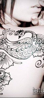 тату кружева №225 – эксклюзивный вариант рисунка, который успешно можно использовать для преобразования и нанесения как тату кружева на руке