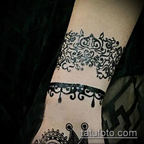 тату кружева №880 - уникальный вариант рисунка, который удачно можно использовать для переработки и нанесения как тату роза с кружевами