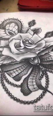 тату кружева №484 – достойный вариант рисунка, который успешно можно использовать для переработки и нанесения как тату кружева на бедре