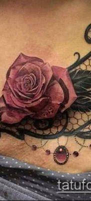 тату кружева №862 – классный вариант рисунка, который успешно можно использовать для преобразования и нанесения как тату кружево
