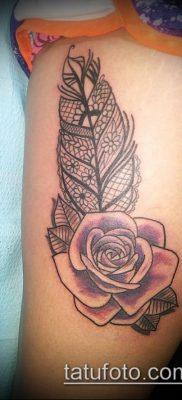 тату кружева №742 – достойный вариант рисунка, который легко можно использовать для доработки и нанесения как тату роза с кружевами