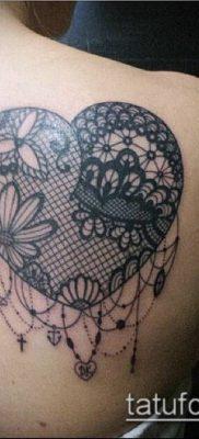 тату кружева №686 – классный вариант рисунка, который легко можно использовать для преобразования и нанесения как тату белое кружево