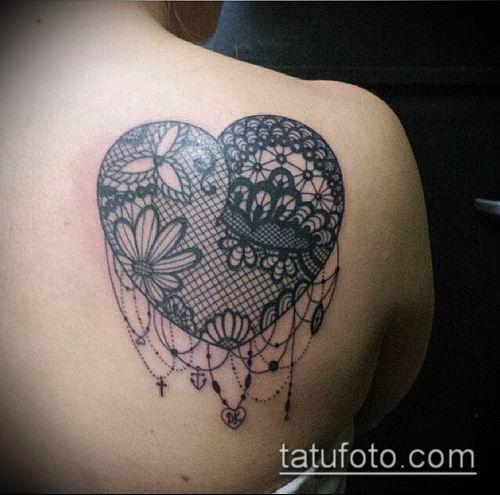 тату кружева №686 - классный вариант рисунка, который легко можно использовать для преобразования и нанесения как тату белое кружево