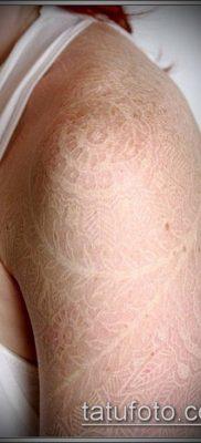 тату кружева №581 – классный вариант рисунка, который хорошо можно использовать для преобразования и нанесения как тату кружева для девушек
