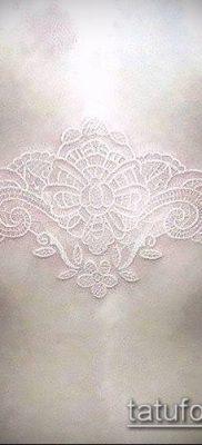 тату кружева №882 – достойный вариант рисунка, который легко можно использовать для доработки и нанесения как тату роза и кружева