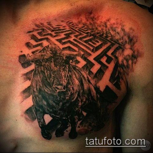 тату лабиринт №117 - уникальный вариант рисунка, который удачно можно использовать для доработки и нанесения как человек в лабиринте тату