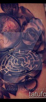 тату лабиринт №254 – классный вариант рисунка, который хорошо можно использовать для переделки и нанесения как тату лабиринт на шеи