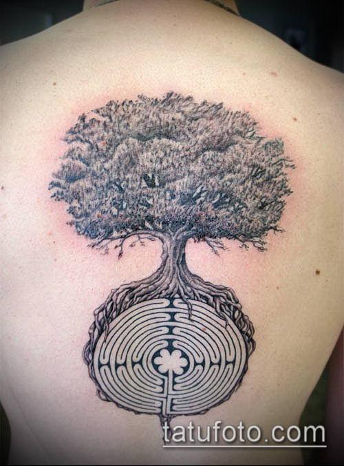тату лабиринт №438 - достойный вариант рисунка, который легко можно использовать для доработки и нанесения как тату лабиринт фавна