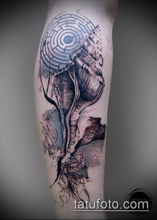 тату лабиринт №862 - классный вариант рисунка, который хорошо можно использовать для переработки и нанесения как тату лабиринт рукав
