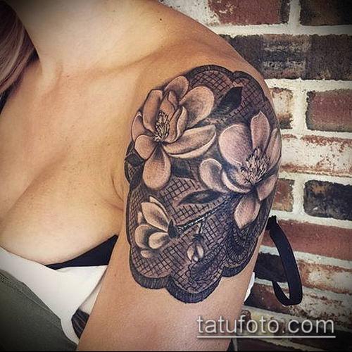 тату магнолия №357 - уникальный вариант рисунка, который хорошо можно использовать для переработки и нанесения как Magnolia tattoo