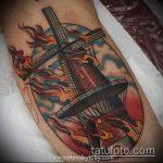 тату мельница №679 - классный вариант рисунка, который легко можно использовать для переделки и нанесения как тату мельница
