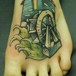 тату мельница №25 - эксклюзивный вариант рисунка, который успешно можно использовать для переработки и нанесения как Tattoo mill
