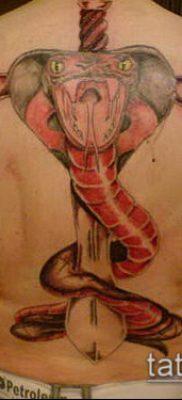 тату меч и змея №606 – классный вариант рисунка, который хорошо можно использовать для переделки и нанесения как Tattoo sword and snake