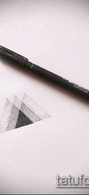 тату минимализм №943 – прикольный вариант рисунка, который удачно можно использовать для переделки и нанесения как тату минимализм на предплечье