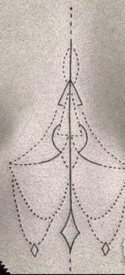 тату минимализм №76 – крутой вариант рисунка, который удачно можно использовать для преобразования и нанесения как тату минимализм маленькие