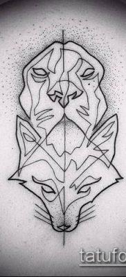 тату минимализм №250 – крутой вариант рисунка, который хорошо можно использовать для переделки и нанесения как тату минимализм геометрия