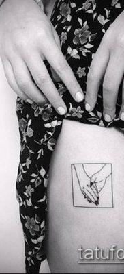 тату минимализм №285 – прикольный вариант рисунка, который удачно можно использовать для переделки и нанесения как тату минимализм маленькие