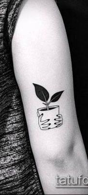тату минимализм №800 – крутой вариант рисунка, который удачно можно использовать для переделки и нанесения как тату минимализм