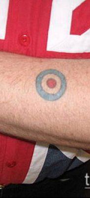 тату мишень №786 – классный вариант рисунка, который легко можно использовать для переработки и нанесения как тату мишень на спине